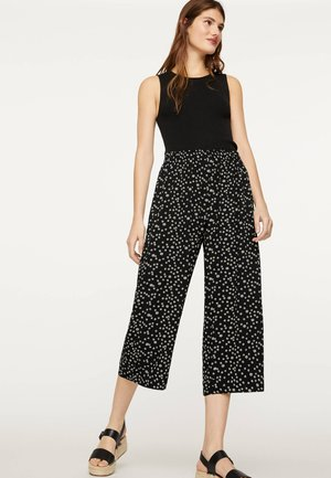 MIT MARGERITEN - Trousers - black