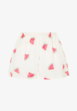 WATERMELON PRINT SHORTS 30321786 - Pyjamabroek - white