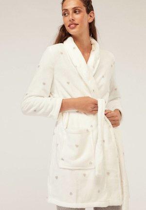 MIT HERZCHEN - Dressing gown - beige
