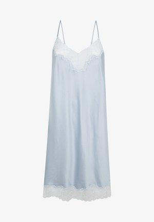 SATIN-NACHTHEMD MIT SPITZE 30292204 - Noční košile - light blue