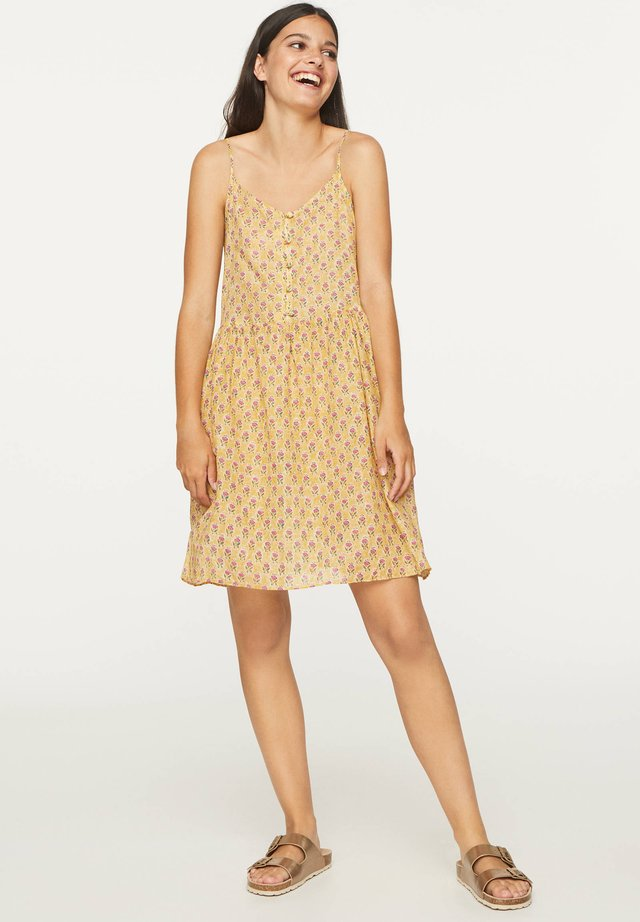 INDIAN COTTON NIGHTDRESS - Sukienka letnia - mustard yellow