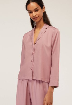 MIT STICKEREI  - Pyjama top - mauve