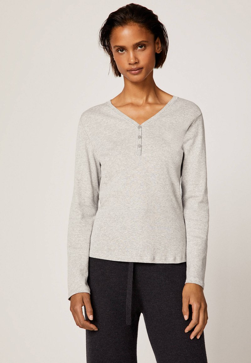 OYSHO - APPAREL - Langærmede T-shirts - light grey