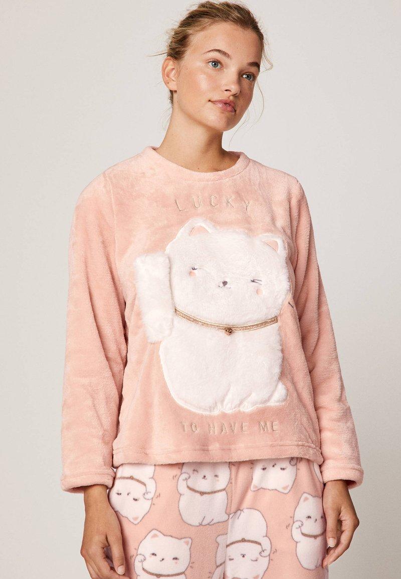 OYSHO - LUCKY CAT - Maglia del pigiama - rose