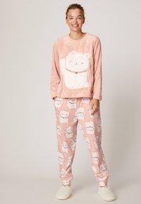 OYSHO - LUCKY CAT - Maglia del pigiama - rose - 1