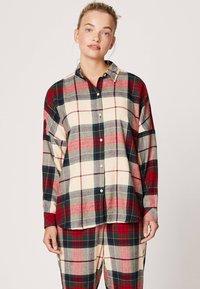 OYSHO - SLIM FIT - Maglia del pigiama - red - 0