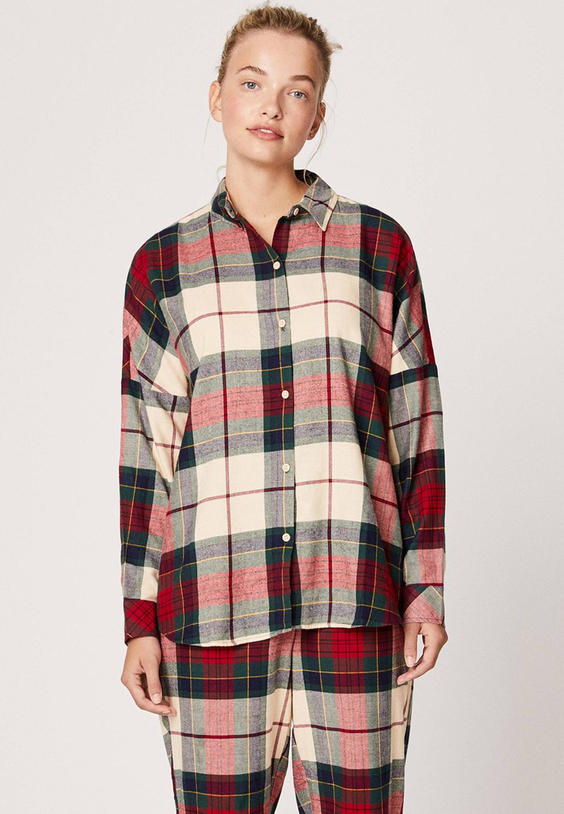 OYSHO - SLIM FIT - Maglia del pigiama - red