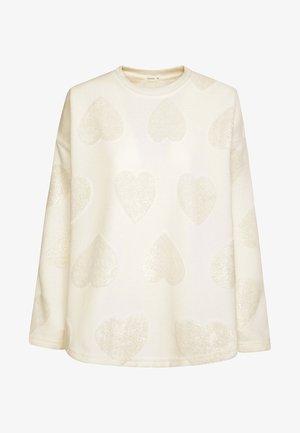MIT GLITZERNDEN HERZCHEN  - Haut de pyjama - white