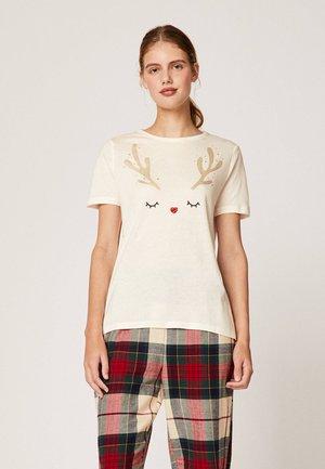 MIT RENTIERMOTIV  - Maglia del pigiama - white