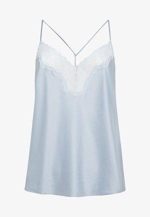 SATINTOP MIT SPITZE 30212204 - Pyjamashirt - light blue