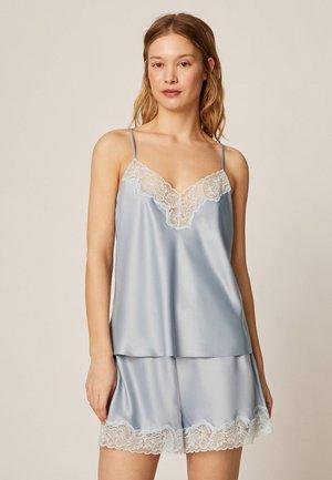 SATINTOP MIT SPITZE 30212204 - Maglia del pigiama - light blue
