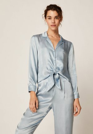 EINFARBIG BLAUES OBERTEIL  - Pyžamový top - light blue