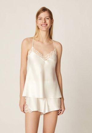 TOP IM DESSOUS-LOOK MIT SPITZE 30212801 - Maglia del pigiama - white