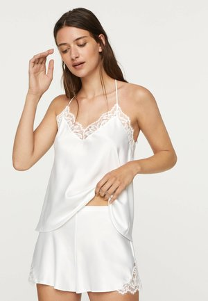 TOP IM DESSOUS-LOOK MIT SPITZE 30212801 - Koszulka do spania - white