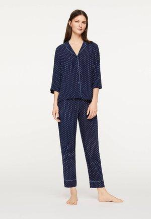 DUNKELBLAUES OBERTEIL MIT PUNKTEN 31082169 - Pyžamový top - dark blue