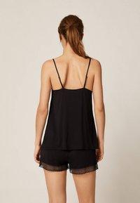 OYSHO - Maglia del pigiama - black - 1