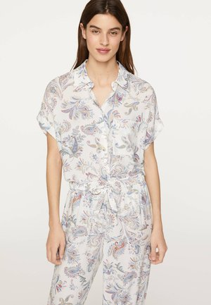 MIT BUNTEM PAISLEY-PRINT - Maglia del pigiama - white