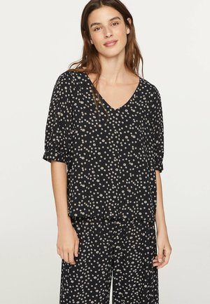 MIT MARGERITENPRINT - Pyjama top - black