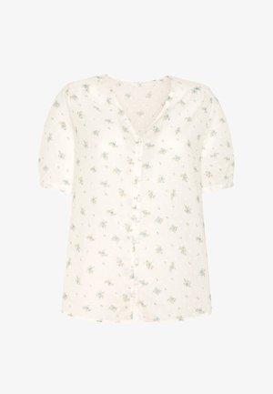 MIT FARBENEN BLUMEN  - Pyjamashirt - white