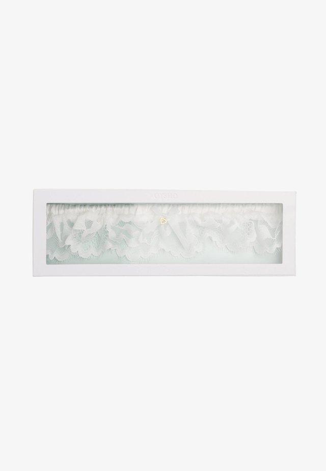 STRUMPFBAND AUS SPITZE 30140801 - Andet - white
