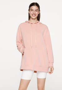 OYSHO_SPORT - NORMAL - Bluza z kapturem - rose - 1