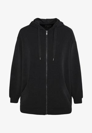 KAPUZENJACKE AUS WEICHEM STOFF 31791222 - Zip-up hoodie - black