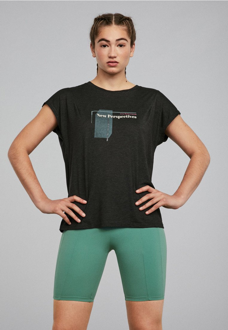 OYSHO_SPORT - Print T-shirt - black