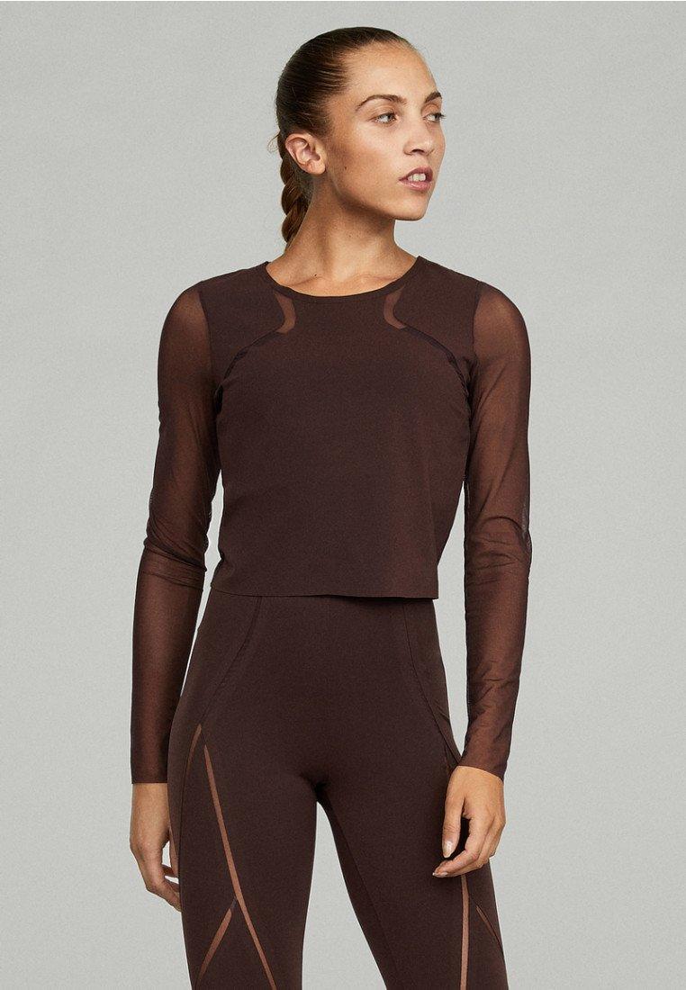 OYSHO_SPORT - Bluzka z długim rękawem - brown