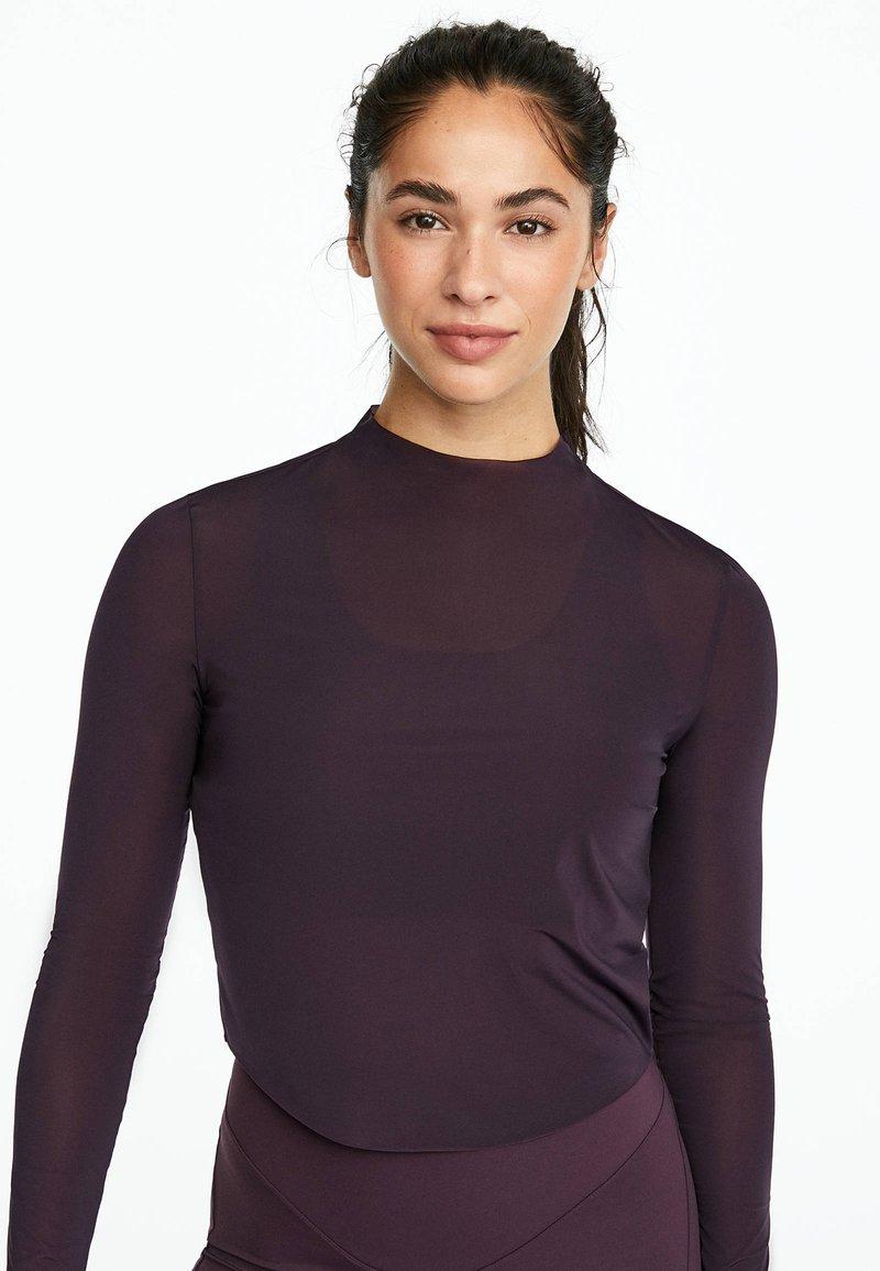 OYSHO_SPORT - Pitkähihainen paita - dark purple