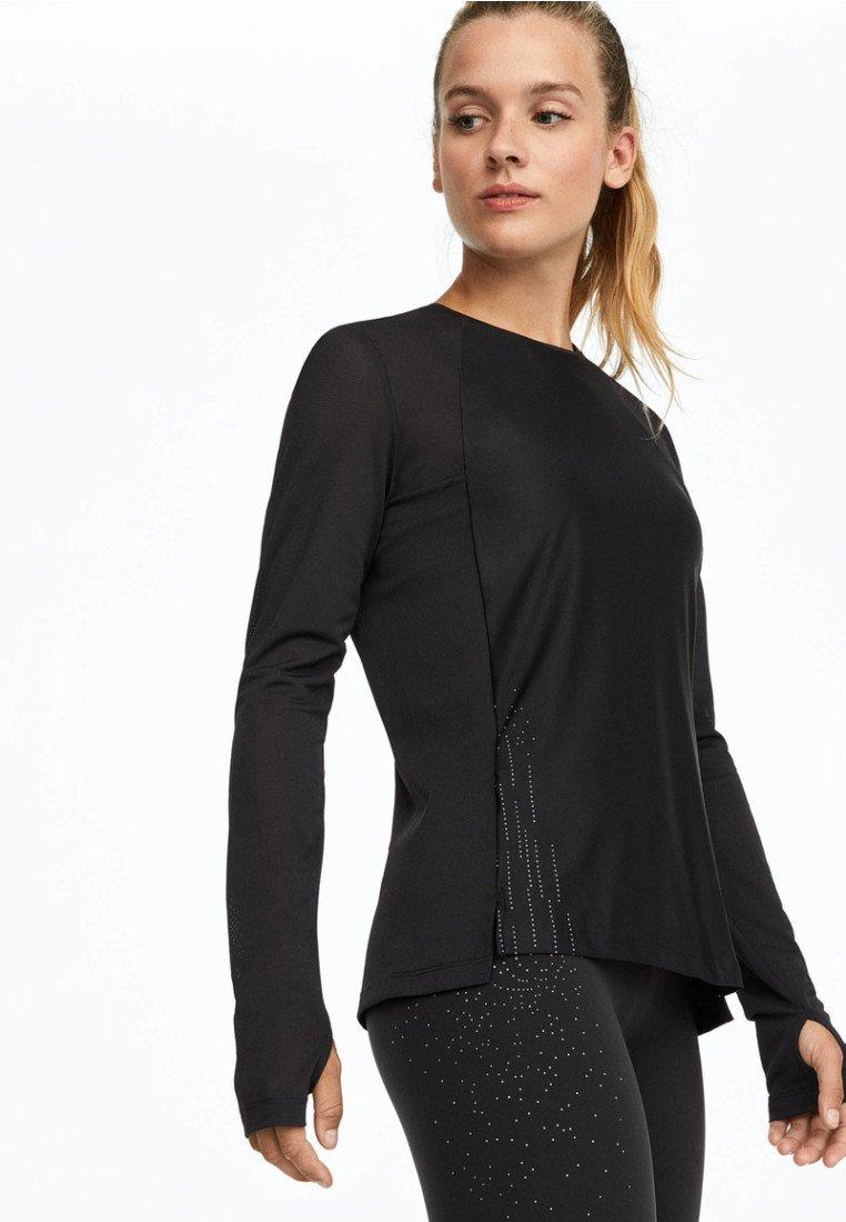 OYSHO_SPORT - Bluzka z długim rękawem - black