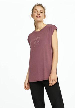 MIT AUFSCHRIFT - Print T-shirt - mauve