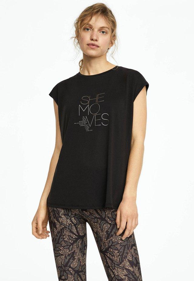 MIT AUFSCHRIFT - T-Shirt print - black