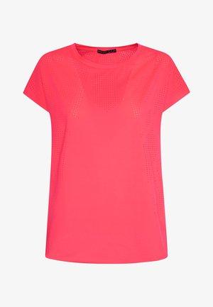MIT LASER-CUT-OUT SANITIZED® ODORACTIV - Triko spotiskem - neon pink