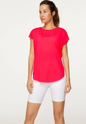 MIT LASER-CUT-OUT SANITIZED® ODORACTIV - Print T-shirt - neon pink