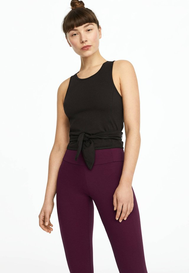 ÄRMELLOSES TOP AUS BAUMWOLLE MIT KNOTENDETAIL 30614241 - Top - black