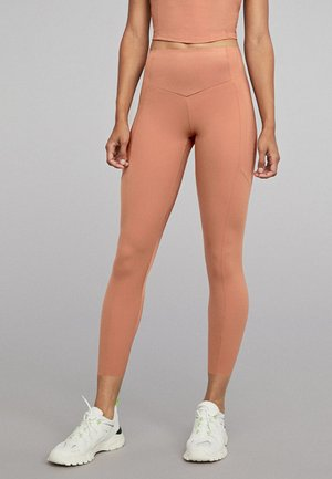 MIT GL�NZENDEN PARTIEN - Collants - rose