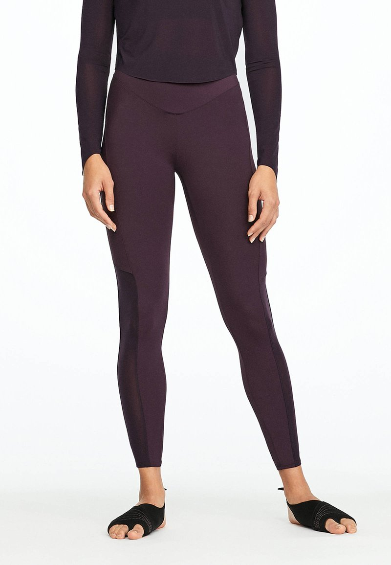 OYSHO_SPORT - LIGHT SKIN TOUCH - Legginsy - dark purple