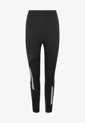 MIT REFLEKTIERENDEM PRINT  - Legging - black