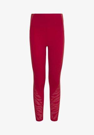MIT LASER CUT TIGERMOTIV  - Collants - red