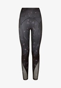 OYSHO_SPORT - MIT BLÜMCHENPRINT - Leggings - black - 5