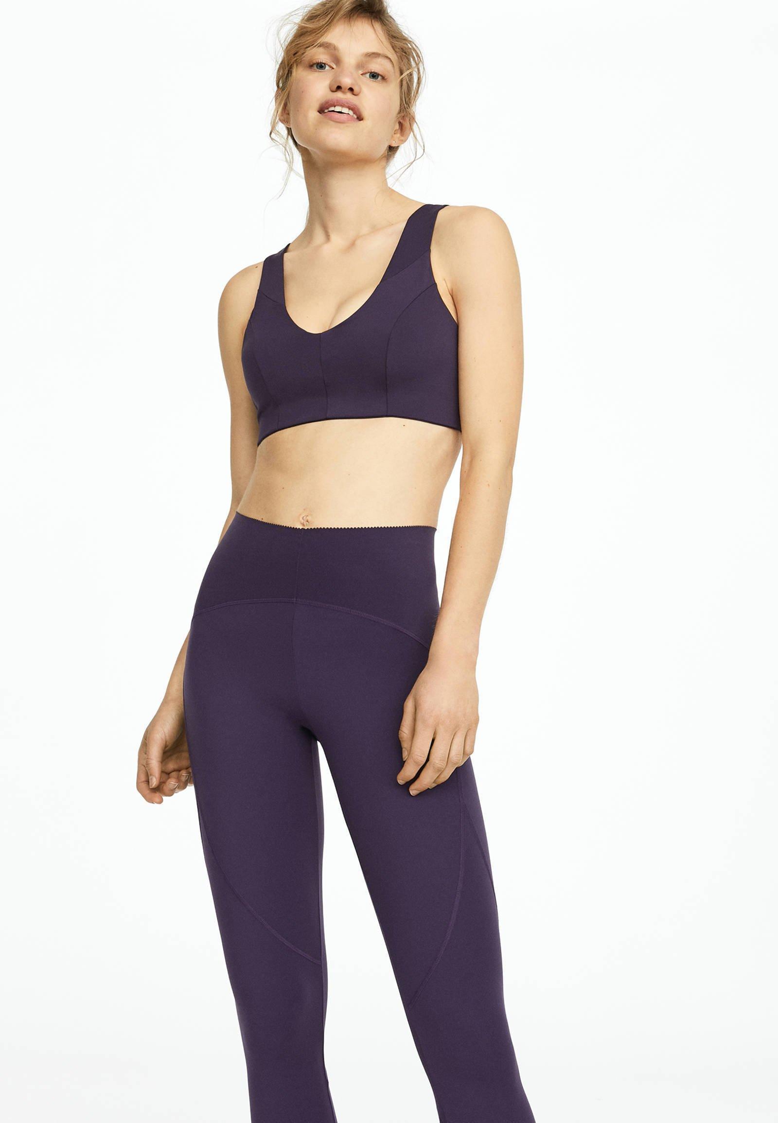 Oysho_sport Tights - Dark Purple