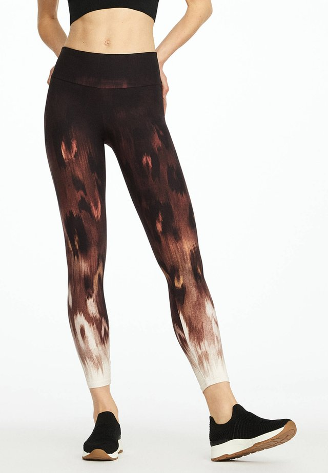 MIT TIERPRINT - Leggings - brown
