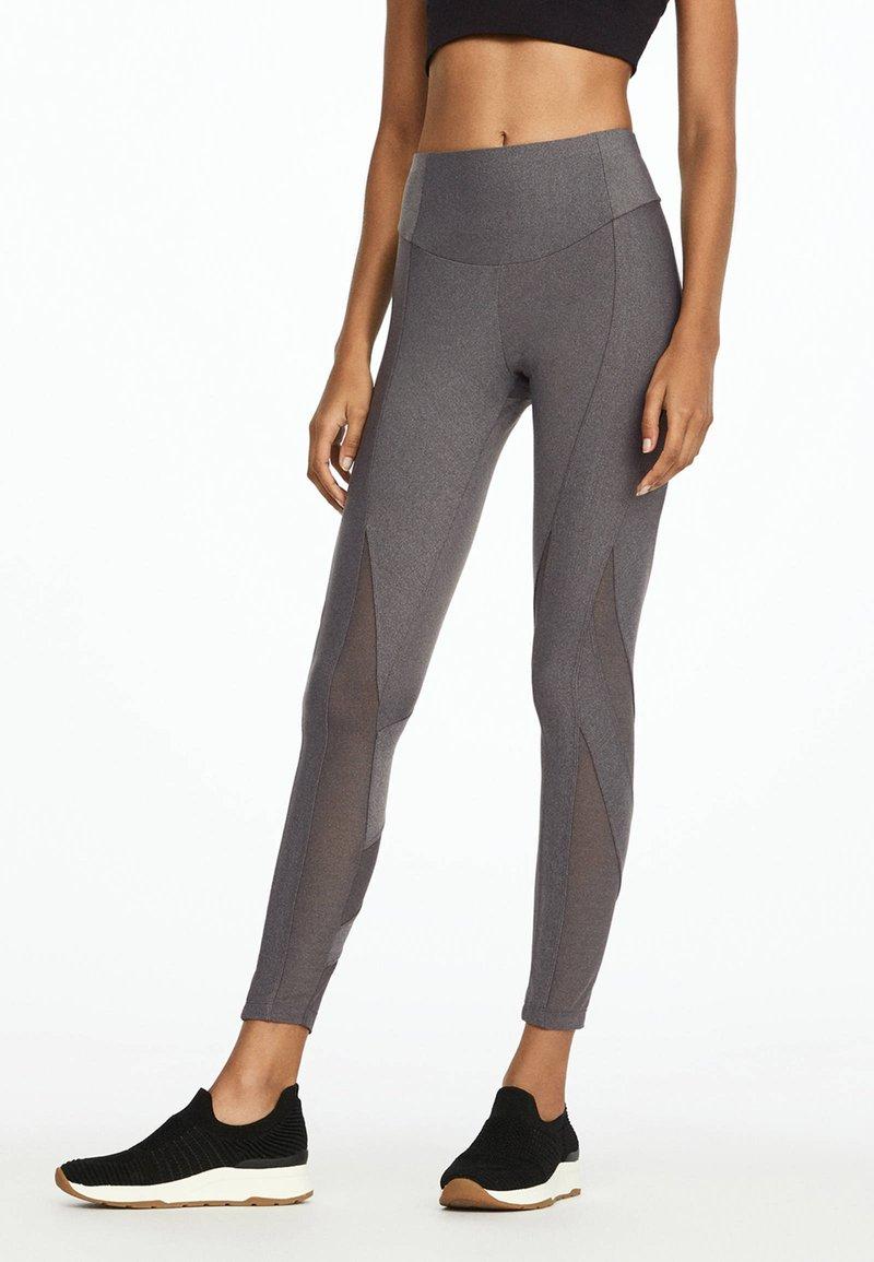 OYSHO_SPORT - Leggings - light grey