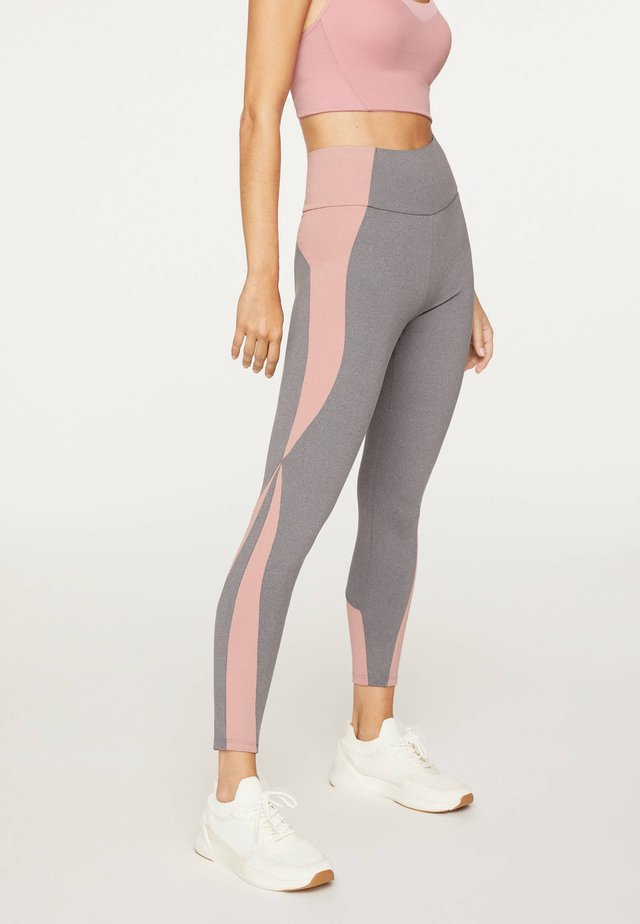 MIT BLOCK DETAILS  - Legging - light grey