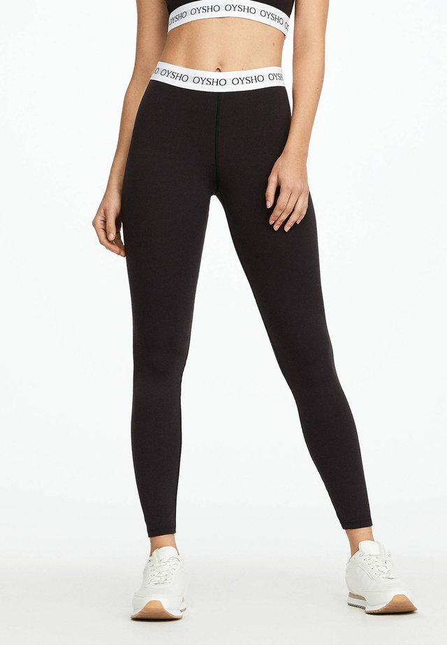 BASIC LOGO STRETCH WAISTBAND LEGGINGS - Punčochy - black