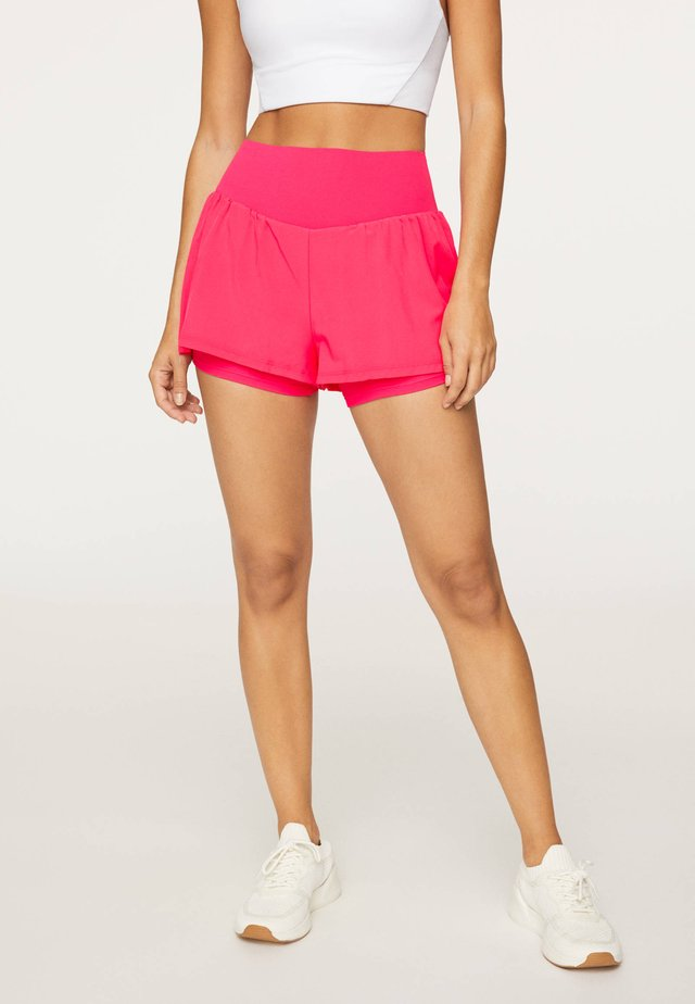 kurze Sporthose - neon pink