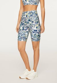 OYSHO_SPORT - FLORAL PRINT  - Tights - blue - 0