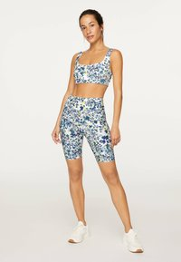 OYSHO_SPORT - FLORAL PRINT  - Tights - blue - 1
