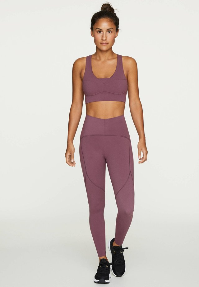 COMPRESSION LEGGINGS - Leggings - bordeaux