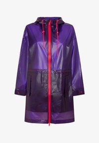 OYSHO_SPORT - TRANSPARENTER REGENMANTEL - Regenjas - dark purple - 4